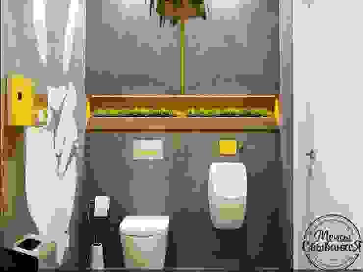 Salle de bain minimaliste par Компания архитекторов Латышевых 'Мечты сбываются' Minimaliste