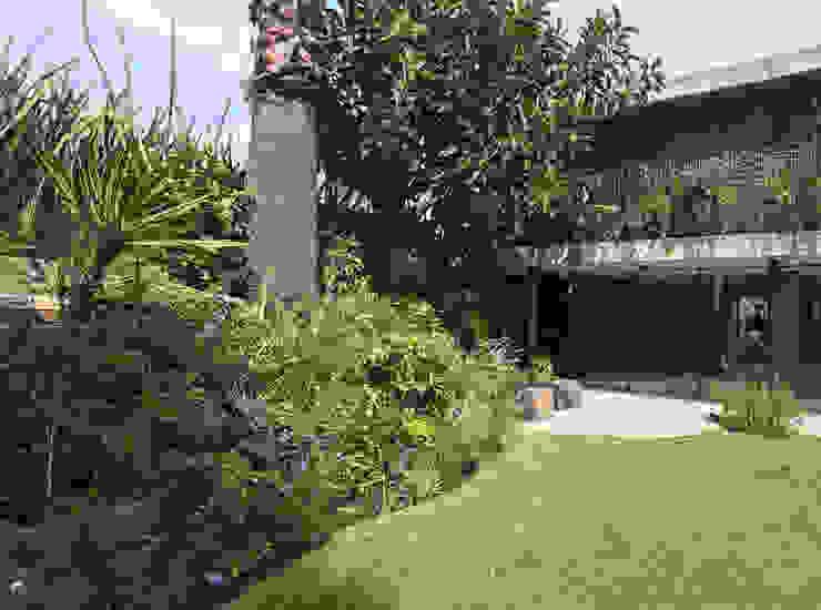 Jardín principal con montículo Patio Jardines modernos