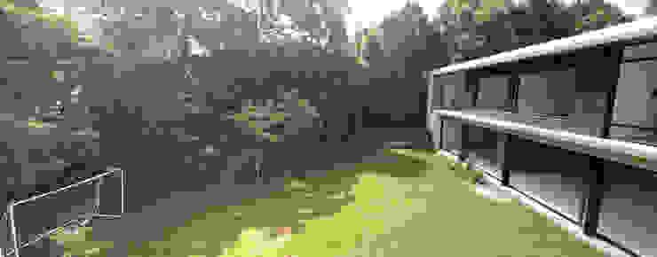 Vista de jardín principal Patio Jardines modernos