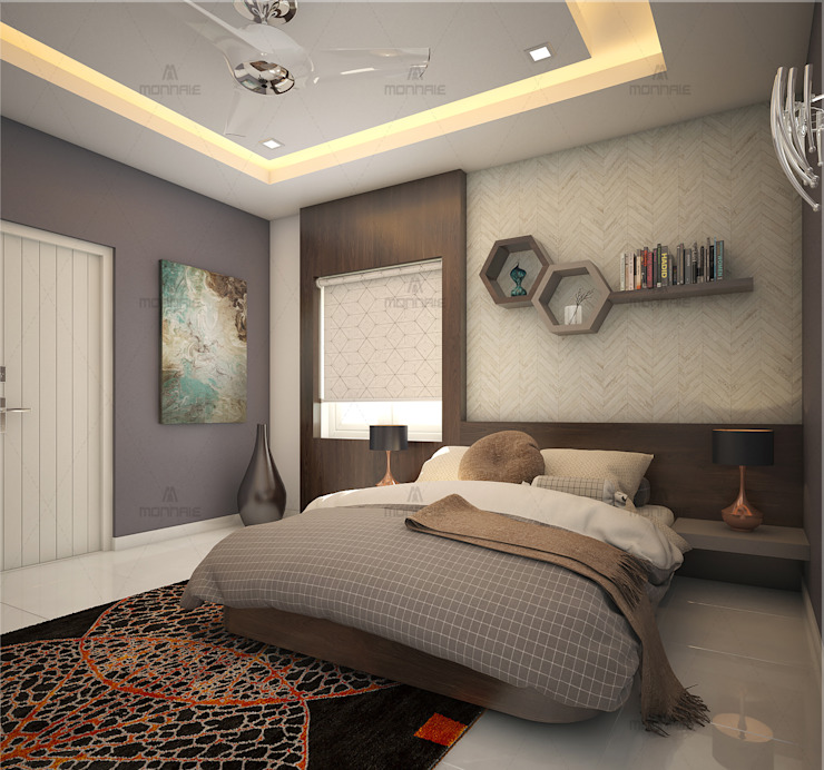 Creative and unique bedroom designs...: classic  by Monnaie Interiors Pvt Ltd,Classic