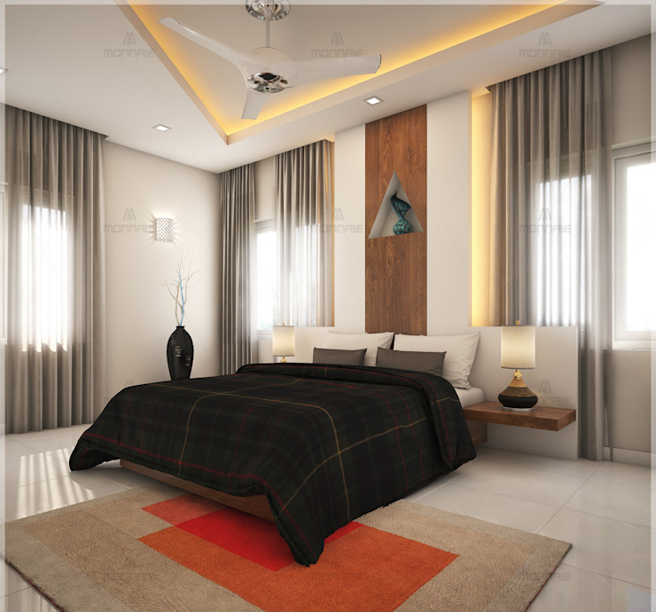 Creative and unique bedroom designs... : classic  by Monnaie Interiors Pvt Ltd,Classic