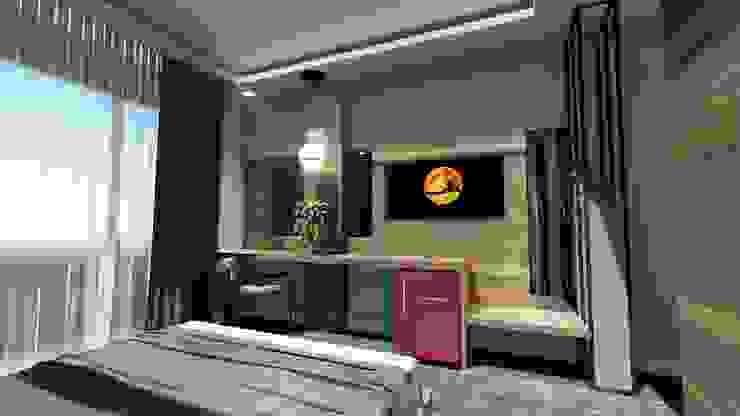 Bakü Otel odası Projesi Akay İç Mimarlık & Tasarım Modern Yatak Odası