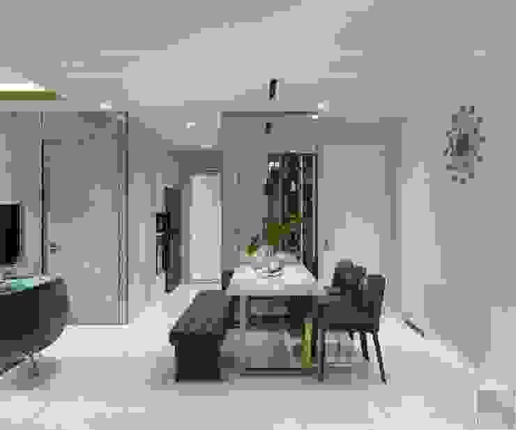 Thiết kế nội thất hiện đại: Không gian thanh lịch của căn hộ chung cư Phòng ăn phong cách hiện đại bởi ICON INTERIOR Hiện đại