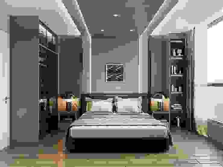 Thiết kế nội thất hiện đại: Không gian thanh lịch của căn hộ chung cư Phòng ngủ phong cách hiện đại bởi ICON INTERIOR Hiện đại