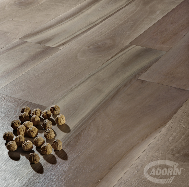 European Walnut, Brushed, Bark varnished от Cadorin Group Srl - Top Quality Wood Flooring Модерн