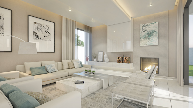 Living Room by Dessiner Interior Architectural Eclectic