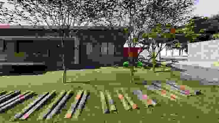 Lozí - Projeto e Obra Jardines de estilo moderno