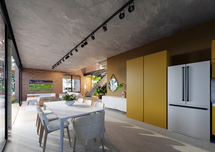 Lozí - Projeto e Obra Cocinas de estilo industrial