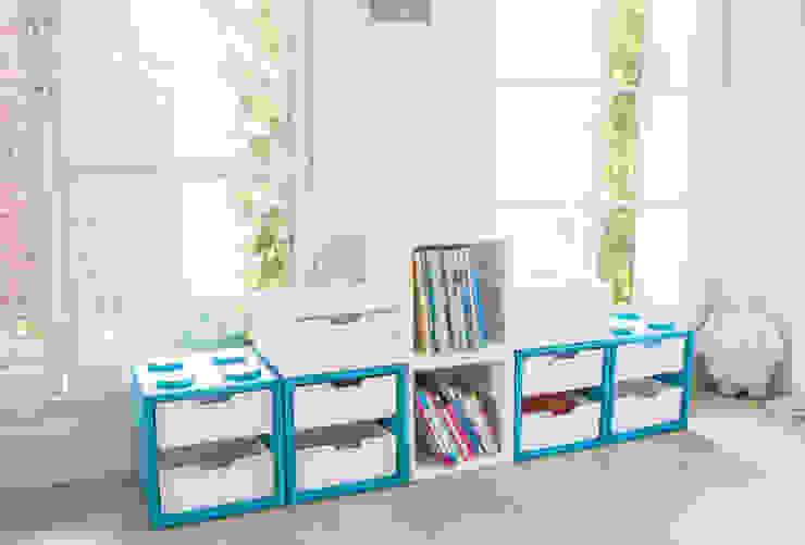 블록으로 만드는 책장과 수납장 주식회사 큐빙 아이 방수납 플라스틱 파랑