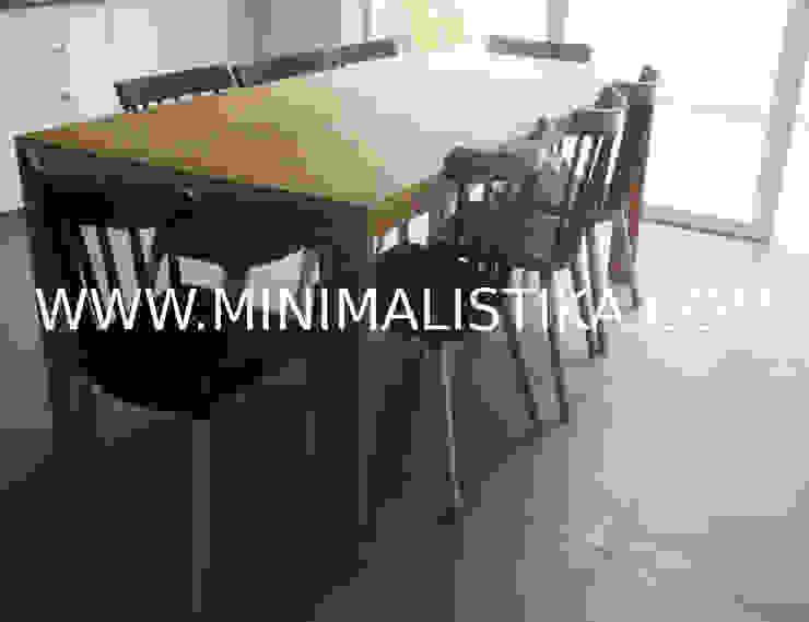 Casas de Playa Minimalista y Mediterráneo - Comedor Minimalistika.com Comedores de estilo minimalista Madera maciza Acabado en madera
