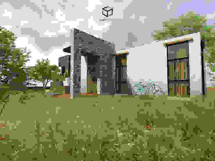 Perspectiva lateral CUBO ARQUITECTOS Casas de campo