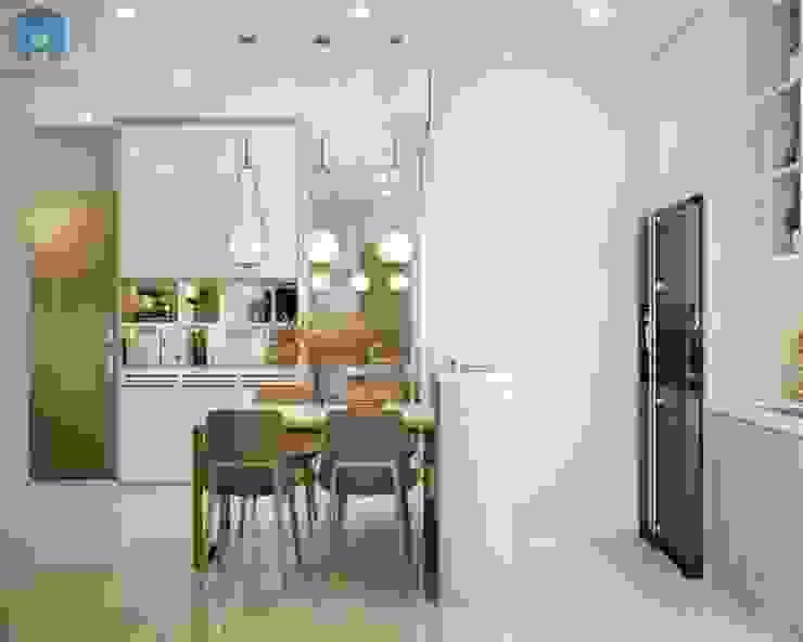 Sự liền mạch giữa 2 không gian tạo nên cảm giác rộng rãi Phòng ăn phong cách hiện đại bởi Công ty TNHH Nội Thất Mạnh Hệ Hiện đại