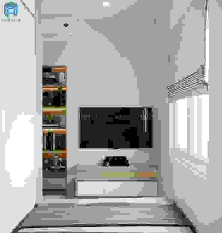 Kệ tivi treo tường gỗ công nghiệp nhỏ gọn bởi Công ty TNHH Nội Thất Mạnh Hệ Hiện đại