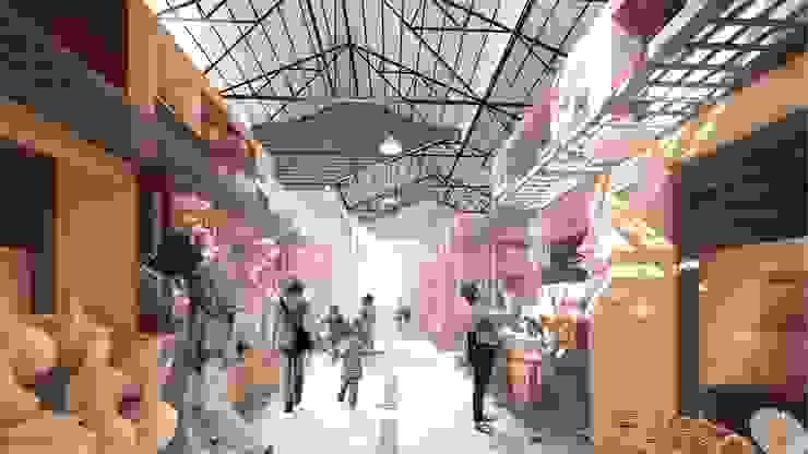 Interior de la zona de Artesanías. de Oleb Arquitectura & Interiorismo Tropical