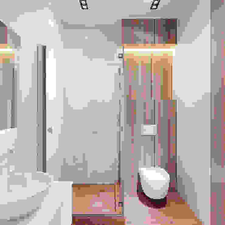Minimalist style bathroom by Дизайн-бюро 'ДА!' Minimalist