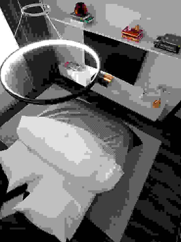 Minimalist bedroom by Дизайн-бюро 'ДА!' Minimalist