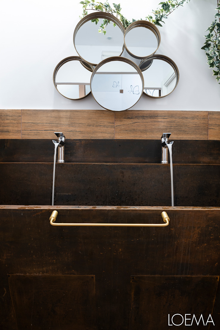 Loema Reformas Integrales Madrid BathroomSinks Copper/Bronze/Brass Brown