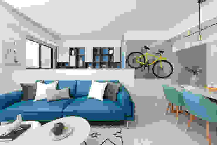 旅與憩 Scandinavian style living room by 知域設計 Scandinavian
