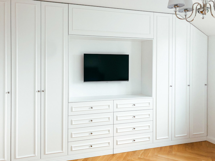 Szafawawa SchlafzimmerKleiderschränke und Kommoden Weiß