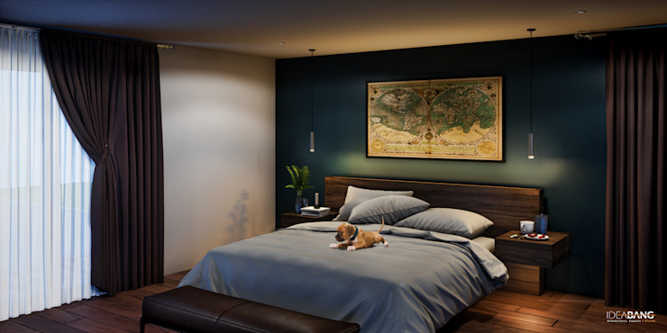 Habitación Principal Dormitorios modernos de IdeaBang Moderno