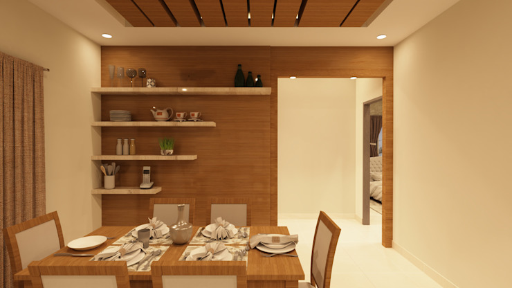 Crockery Unit SD Interiors & Modulars Asian style dining room Wood