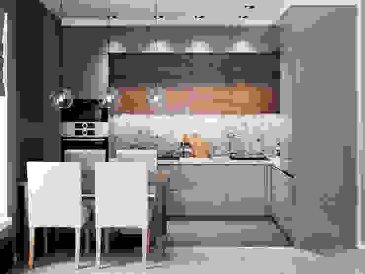 Cuisine minimaliste par Ремонт и дизайн квартир с ICON Minimaliste
