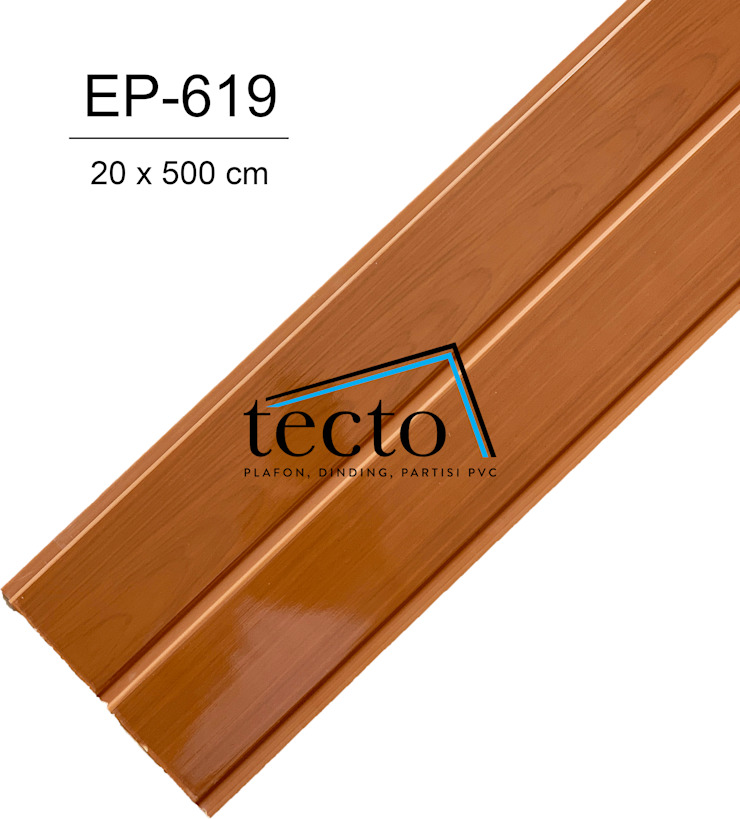 TECTO Plafon PVC EP-619 20cm X 500cm Oleh Tecto Plafon Asia Plastik