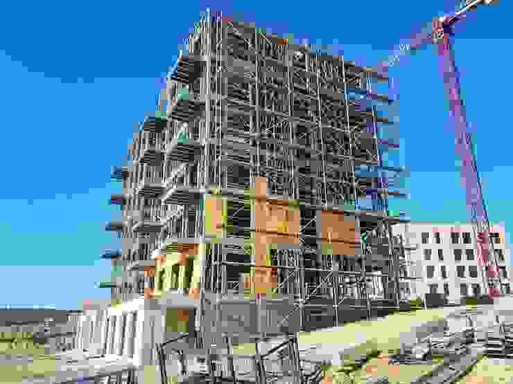 Paredes y pisos de estilo industrial de PRAMO PREFABRİCATED & STEEL Industrial Aluminio/Cinc