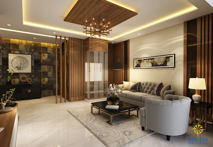 Living room Classic style living room by New Era Architects & Construction Classic
