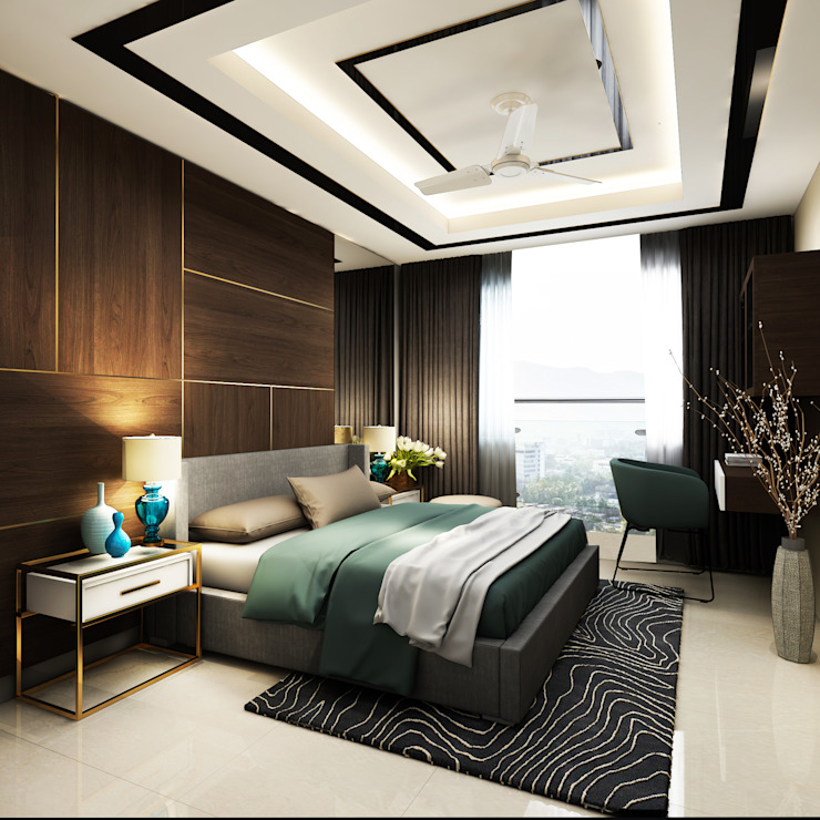 4 BHK apartment Classic style bedroom by New Era Architects & Construction Classic