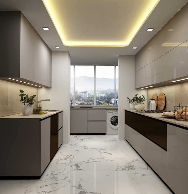 4 BHK apartment Classic style kitchen by New Era Architects & Construction Classic