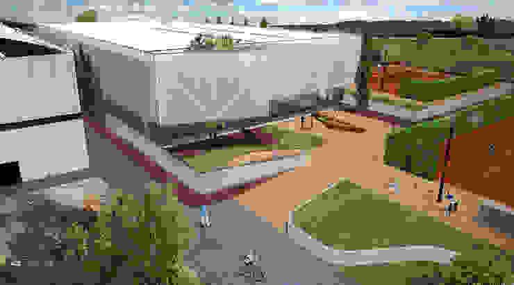 Visão exterior:  tropical por Jah Building Solutions,Tropical