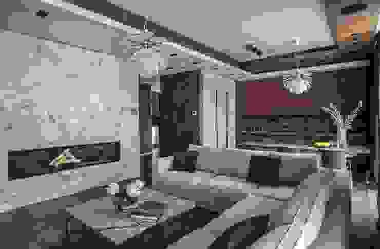 Гостиная, Столовая, Кухня от Архитектор Татьяна Стащук