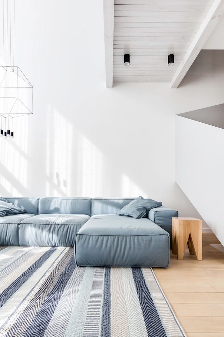 Lugerin Architects Living room Wood White