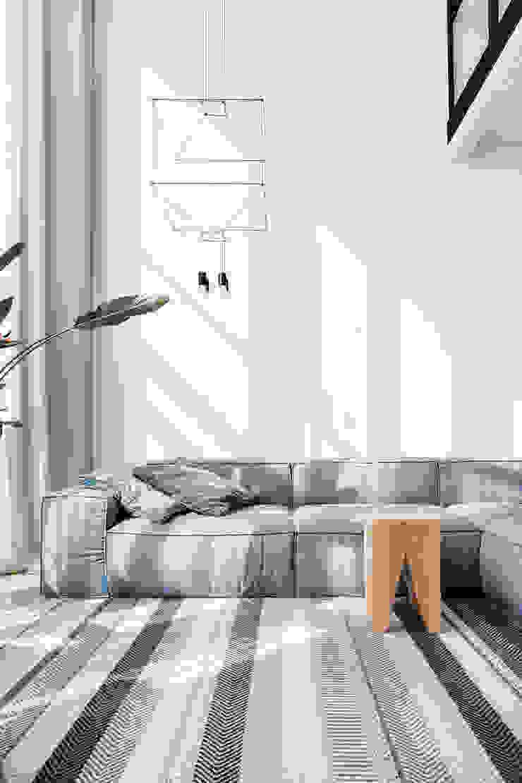 Lugerin Architects Living room Wood Orange