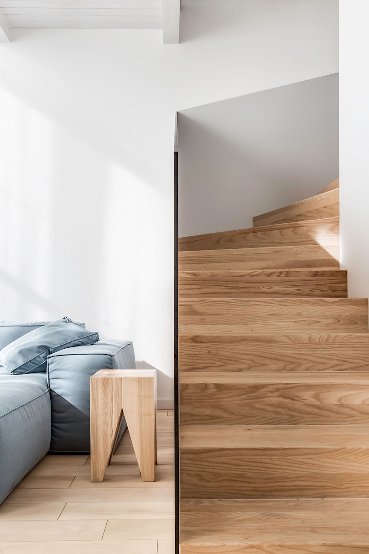 Lugerin Architects Stairs Wood White