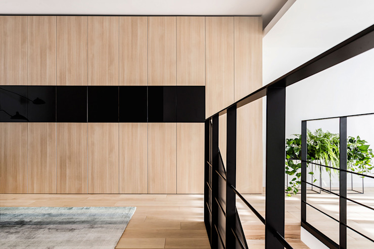 Lugerin Architects Stairs Wood Wood effect