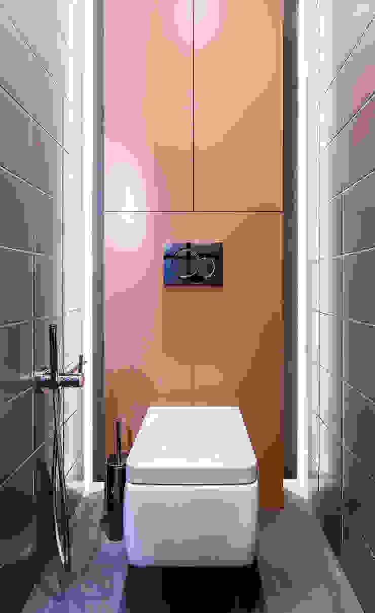 Lugerin Architects Modern style dressing rooms Ceramic Orange