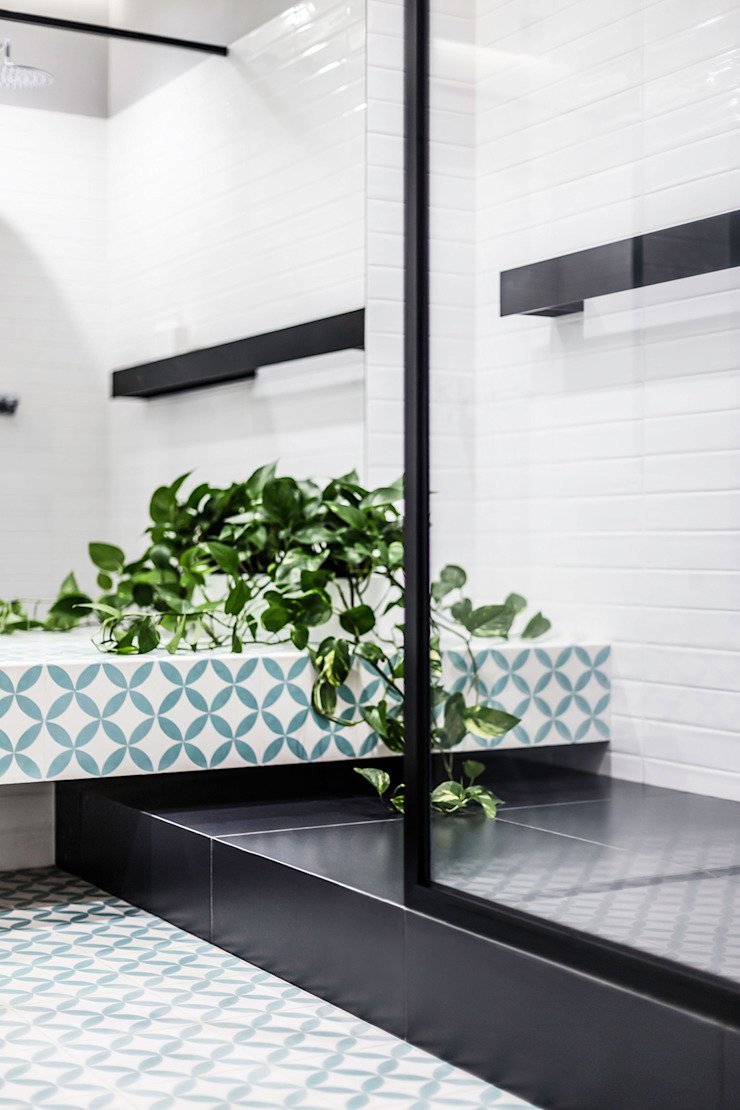 Lugerin Architects Modern style dressing rooms Ceramic Green