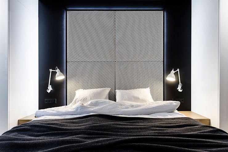 Lugerin Architects Modern style bedroom Metal Black