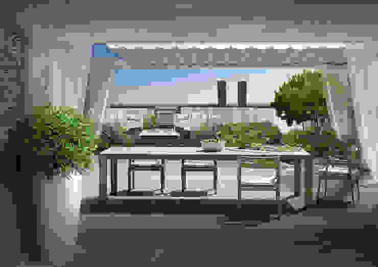 Verde Progetto - Adriana Pedrotti Garden Designer Modern style balcony, porch & terrace