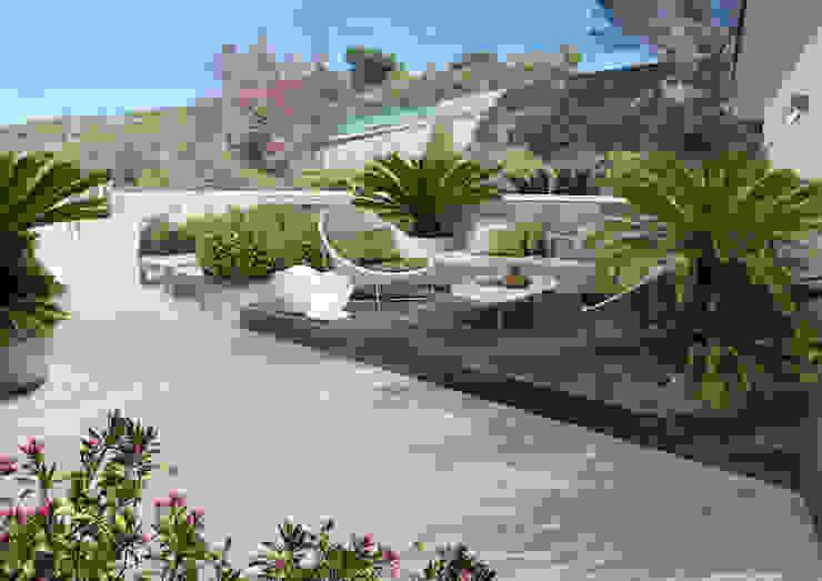 Verde Progetto - Adriana Pedrotti Garden Designer Modern style balcony, porch & terrace White