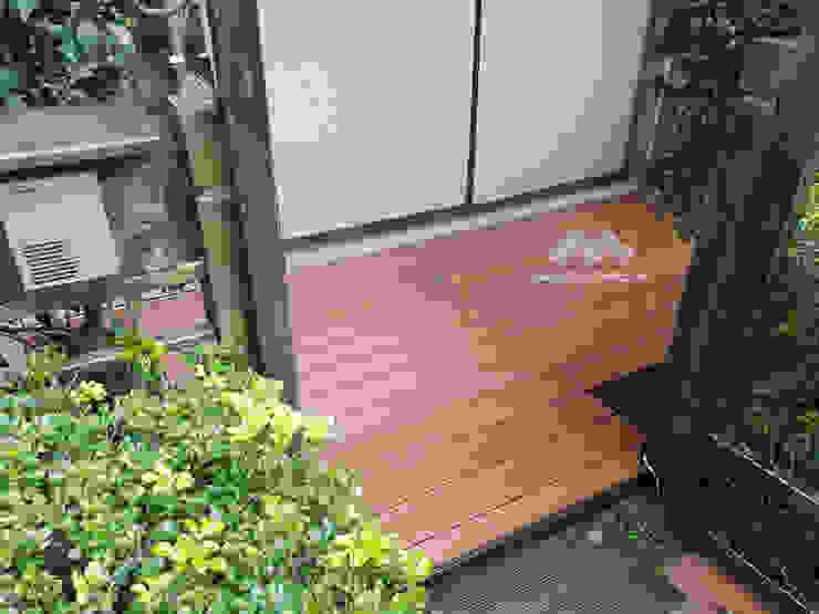 【塑木陽台露臺—住宅美化】 根據 新綠境實業有限公司 日式風、東方風 塑木複合材料