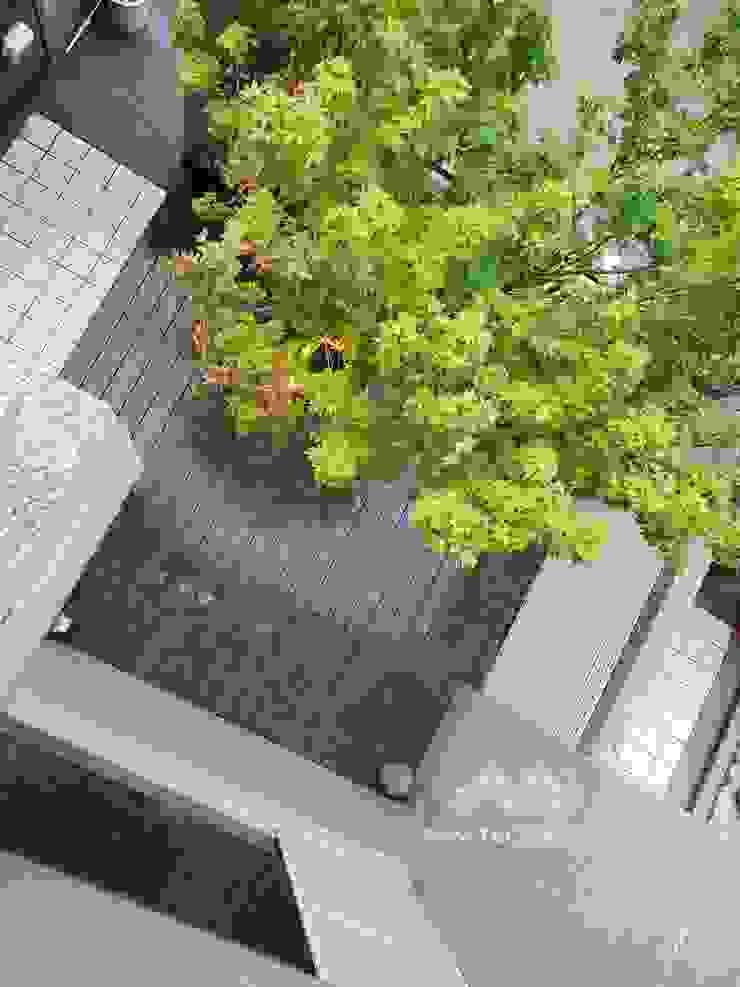 【庭院木平台拆除更換─框型樹穴收邊】 根據 新綠境實業有限公司 日式風、東方風 塑木複合材料