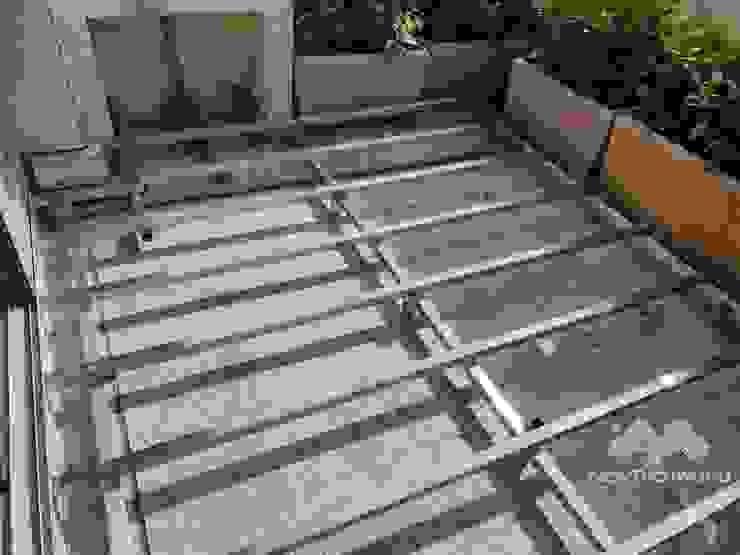 不鏽鋼骨架,木板的穩定依靠 根據 新綠境實業有限公司 日式風、東方風 塑木複合材料