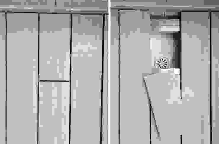 獨家工法,隱藏式落水孔 根據 新綠境實業有限公司 現代風 塑木複合材料
