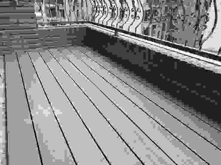 塑木陽台 根據 新綠境實業有限公司 現代風 塑木複合材料