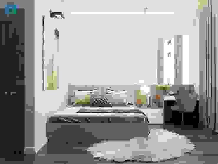 Phòng ngủ master bởi Công ty TNHH Nội Thất Mạnh Hệ Hiện đại Cao su