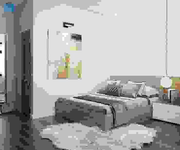 Đồ nội thất thiết kế giản đơn trẻ trung, màu sắc trang nhã bởi Công ty TNHH Nội Thất Mạnh Hệ Hiện đại Cục đá