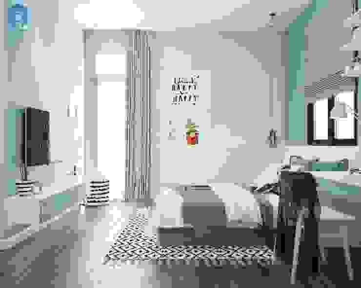 Thiết kế phòng ngủ của bé đẹp đơn giản bởi Công ty TNHH Nội Thất Mạnh Hệ Hiện đại Cục đá